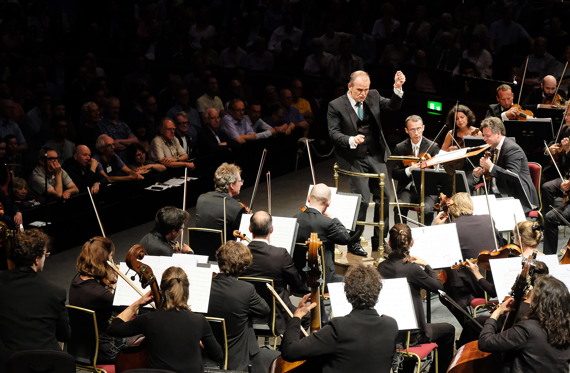 Prom 42: Les Siècles and François-Xavier Roth, (Cédric Tiberghien on piano)at the Royal Albert Hall, on Wednesday 16 Aug. 2017.Photo by Mark Allan
